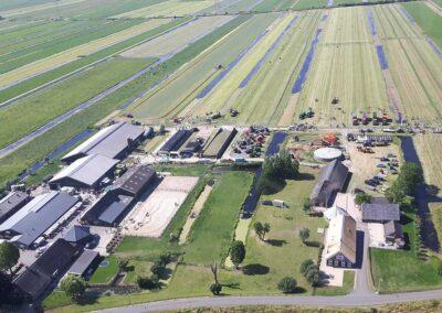 Overzicht van onze boerderij De Twee Hoeven
